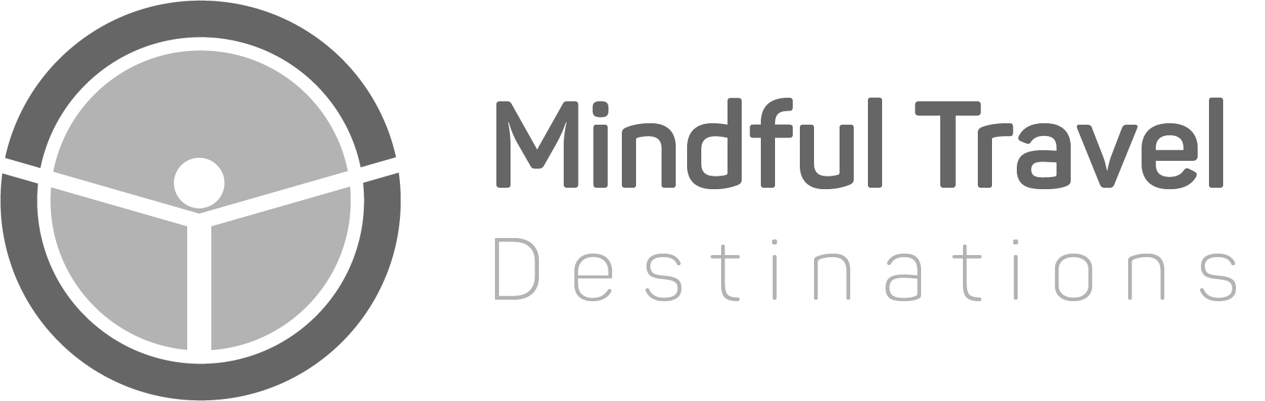 Logo Mindful Travel Destinations en Blanco y negro