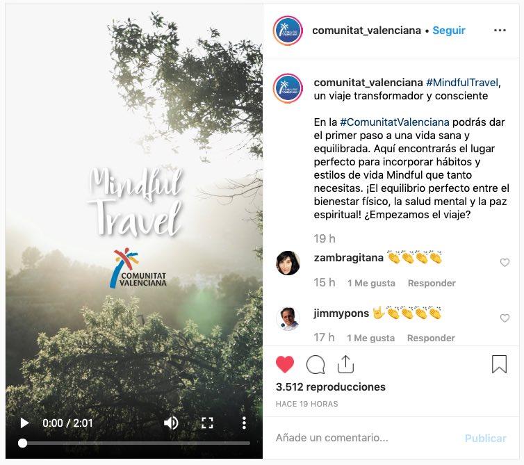 Campaña Mindful Travel Comunitat Valenciana